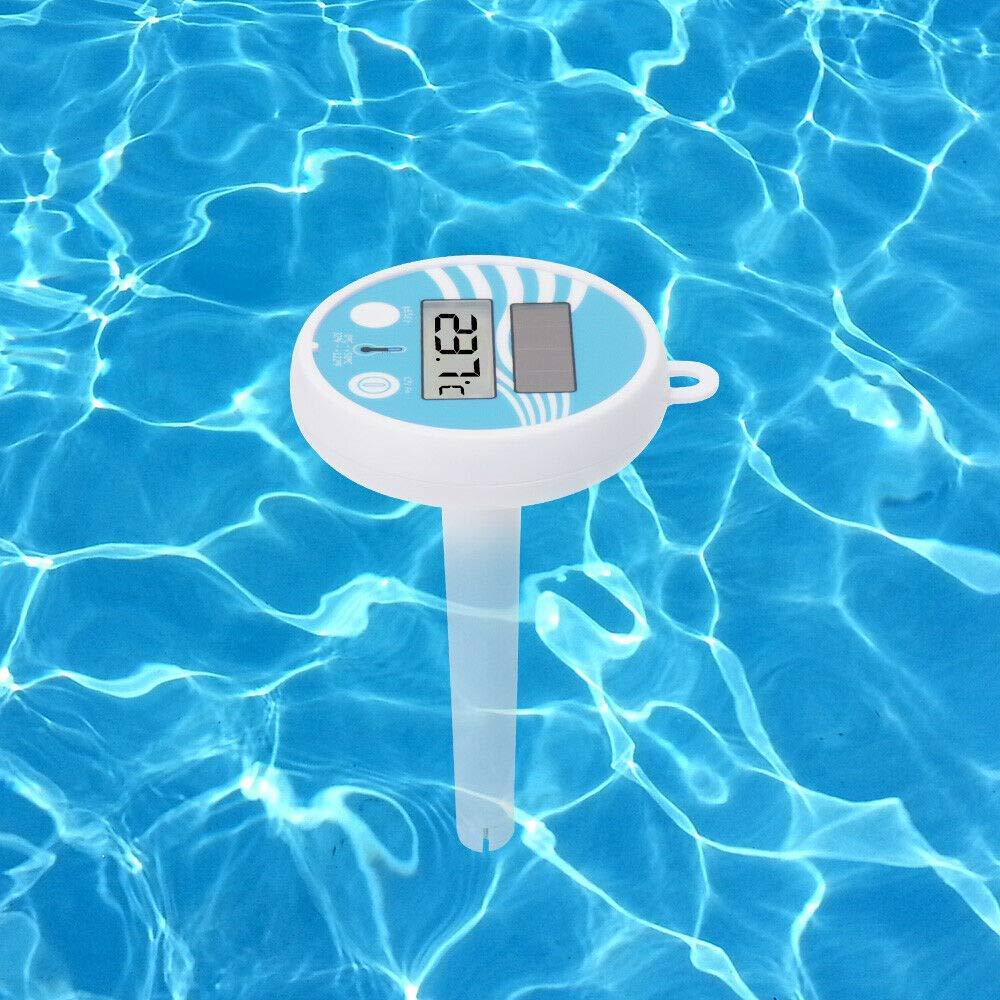 Precisa Agua Temperatura Calibre para Interior y Exterior Piscinas Lumon Grande Flotante Piscina Term/ómetro USA Energ/ía Solar Digital Term/ómetro Nataci/ón
