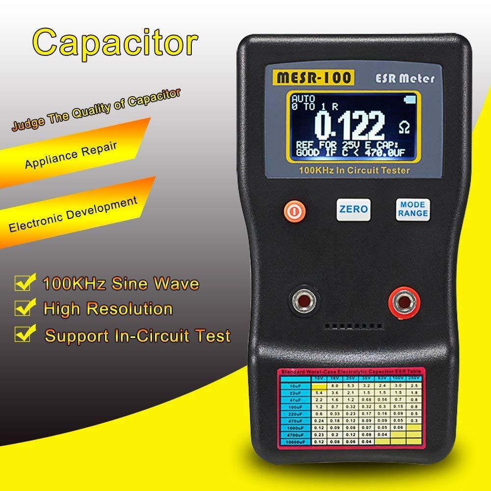 Capacitor Ohm Meter, KKmoon MESR-100 ESR Capacitance Ohm Meter, Professional Measuring Capacitance Resistance Capacitor Circuit Tester by KKmoon (Image #5)
