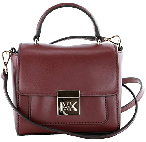 6ff55c29639e Michael Kors Mindy Leather Crossbody Bag Small Handbag Mulberry Red RRP  £210 (Small