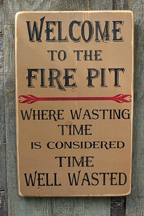 """WELCOME To The DECK Where Wasting Time Is Considered Time Well Wasted 8/"""" Sign"""