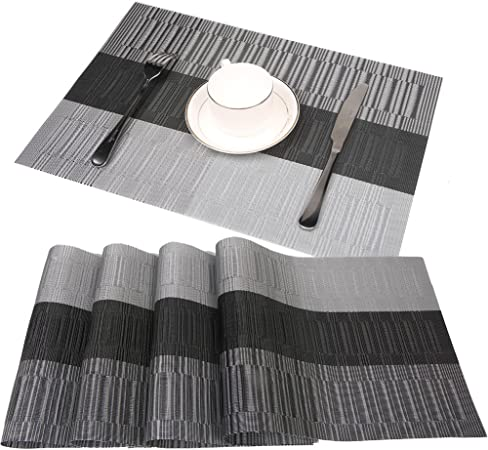 Set De Table Famibay Pour Table De Cuisine Lot De 4 Tisse En Pvc