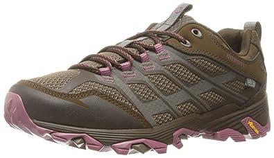 Merrell Women's Moab FST Waterproof Hiking Shoe, Boulder, ...