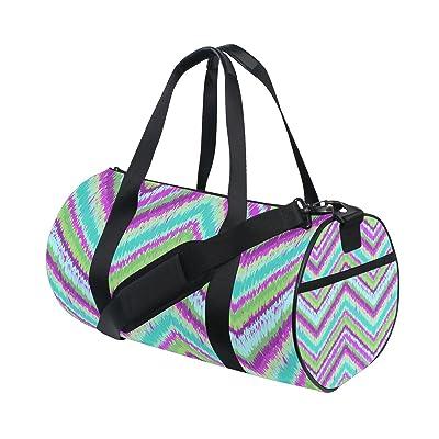 Gym Bag Cheevron Colorful Sports Travel Duffel Lightweight Canvas Bags