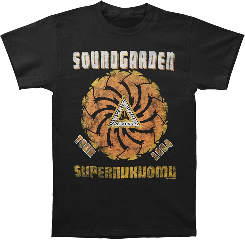 Soundgarden Men's Superunknown Spiral Mens Soft T Slim Fit T-Shirt Black