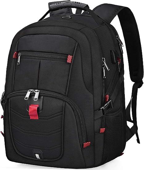 17~17.3 Inch Shockproof Laptop Backpack with USB Port Bookbag College School Bag