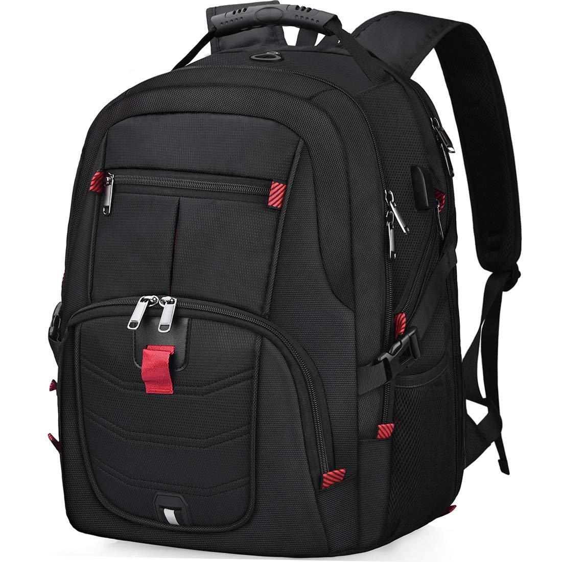 be67455f4a Sac à Dos Ordinateur Portable 17.3 Pouces Homme Imperméable avec USB  Charging Port Sac a Dos