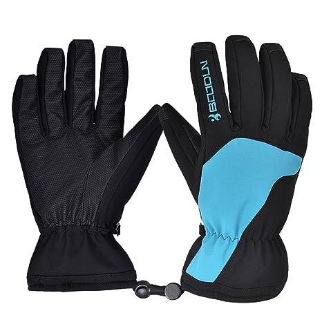 Beetest® Impermeabile Guanti da Sci Antivento Inverno Outdoor Sport Guanti  Caldi con Polsini Regolabili per 5108c8525a2f