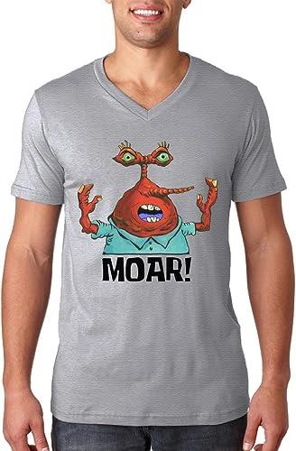 Moar Bob Esponja cangrejo camiseta camiseta con cuello de pico ...