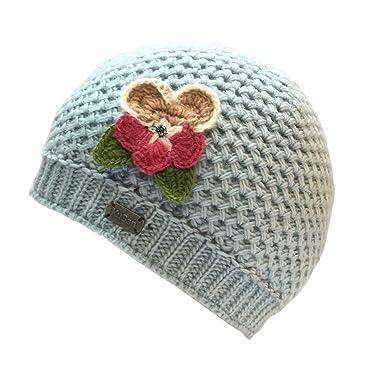 cf4435b42bb505 Kusan 100% Wool Beanie Hat with Detachable Flower Brooch Pin PK1809: Amazon. co.uk: Clothing