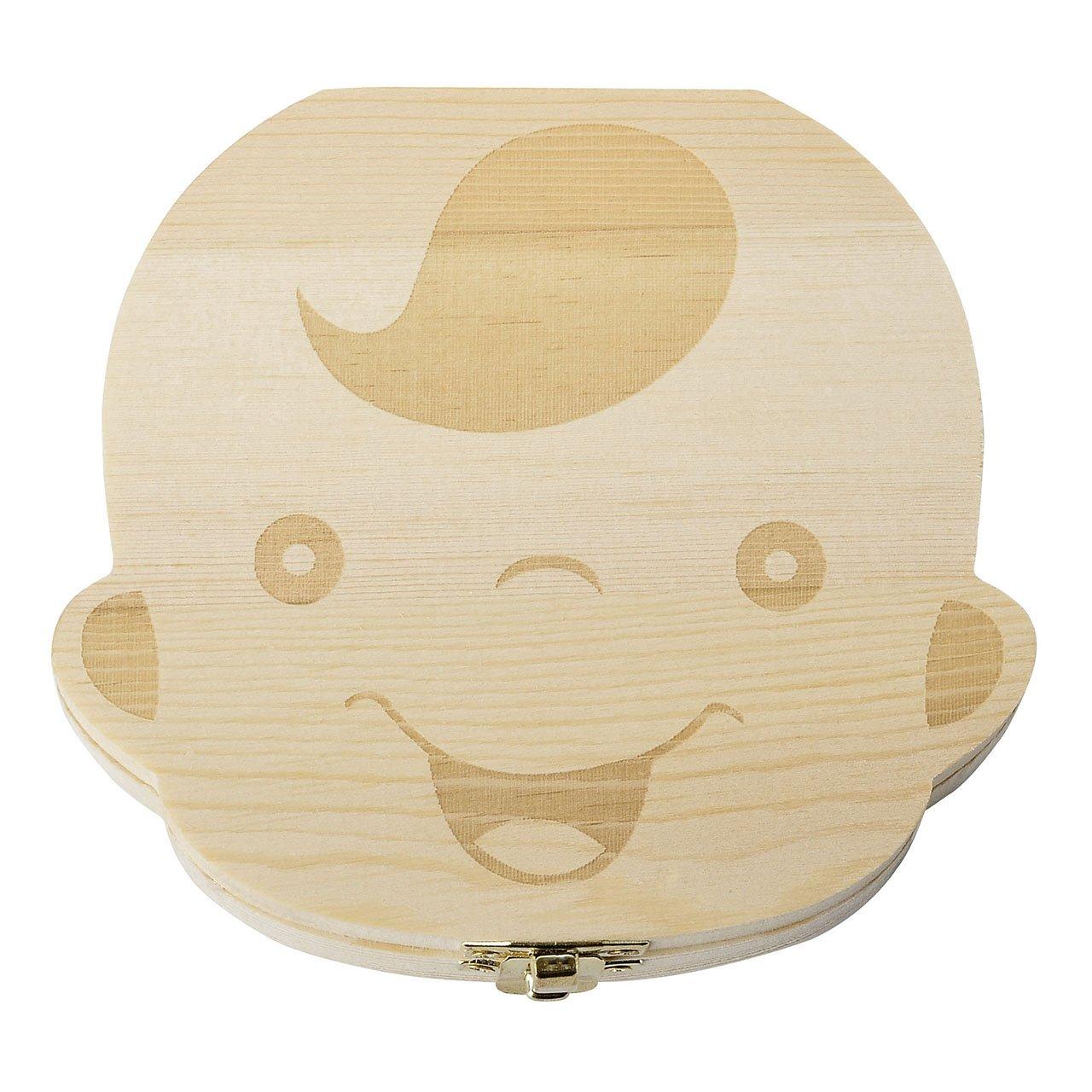 Junge Mogokoyo Deutsch Version baby Kinder Original Holz Haar Milchzahndose Milchz/ähne Z/ähne box Kasten Souvenir Aufbewahrungsbox