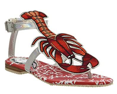 e96d1ad95 Miss L Fire Rock Lobster Sandal Multi Red - 8 UK  Amazon.co.uk  Shoes   Bags