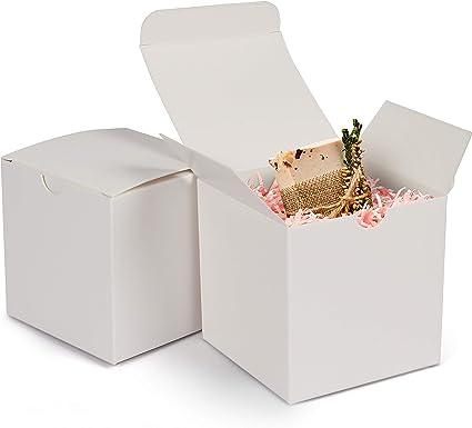 Kraft Cajas de Regalo (Pack de 50) - 7,6 x 7,6 x 7,6cm Cajas ...