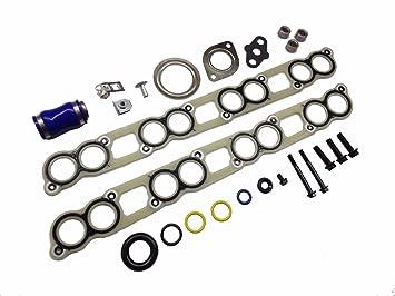 Ford colector de admisión EGR enfriador juntas Turbo instalar hardware Ford 6.0L POWERSTROKE Diesel: Amazon.es: Coche y moto
