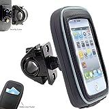 AccessoryBasics 360° Swivel Smartphone Bike Motorcycle Handlebar Mount w/Detachable Water Resistant 3D Touch Enable Case…