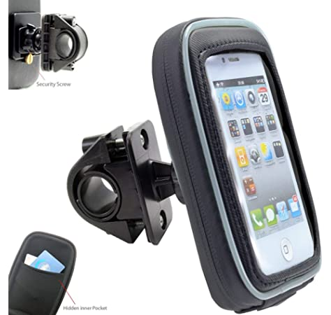 BarBaren Motorcycle Phone Mount Waterproof Cellphone Bag Case Rails 0.5 to 1.25 in Diameter for Harley Davidson//Yamaha YZF-R25 YZF-R3 MT-25 MT-03 MT-07 MT09 //CB600F //R1200GS//z125