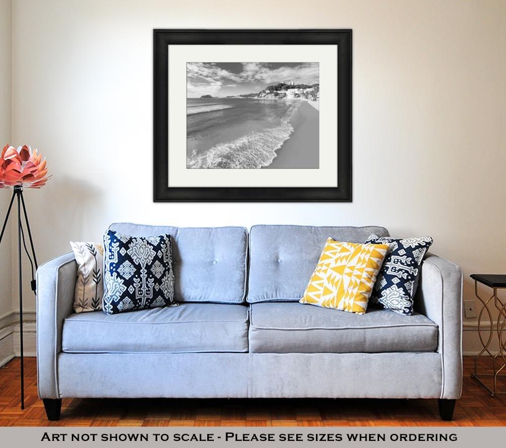 Amazon.com: Ashley Framed Prints Moraira Playa El Portet Beach Turquoise Water in Alicante, Wall Art Home Decoration, Black/White, 34x40 (Frame Size), ...