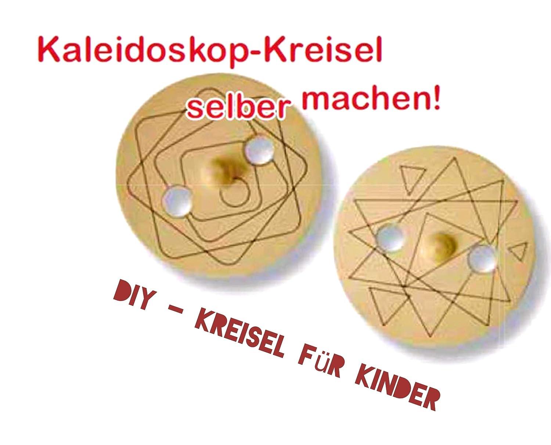 Aestheticx Scheiben-Kreisel DIY Natur zum Bemalen Kinder basteln Kreisel do it Your Self Spinner PRACHTSHOP