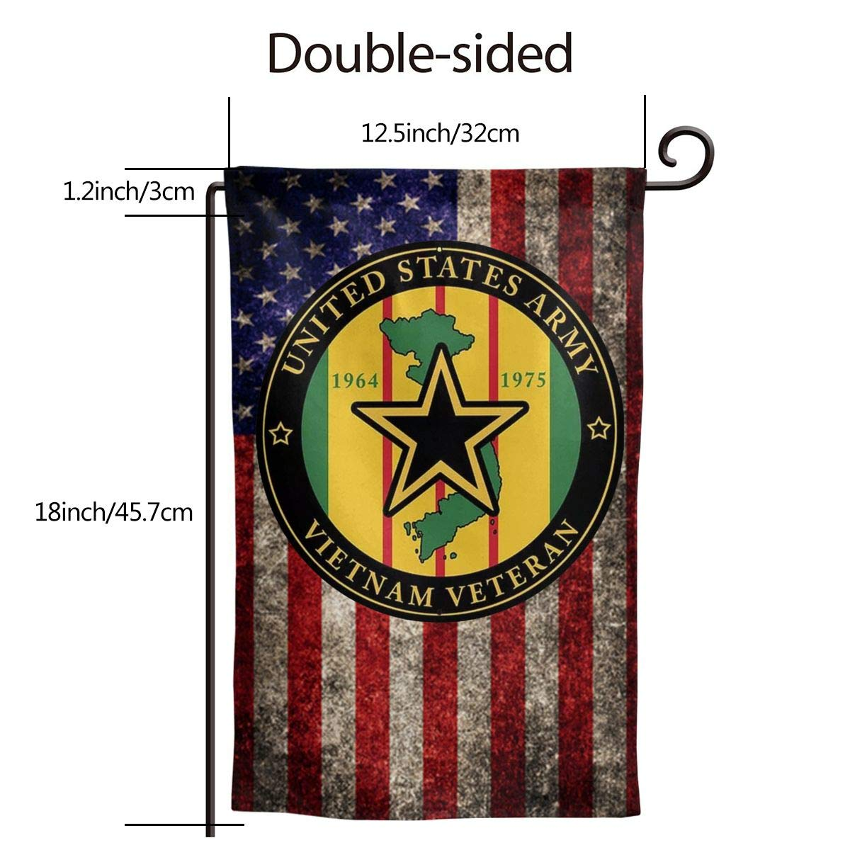 Amazon Com Xiayangqi Us Army Vietnam Veteran Garden Flag Home Flag Outdoor Flags Double Sided Flag