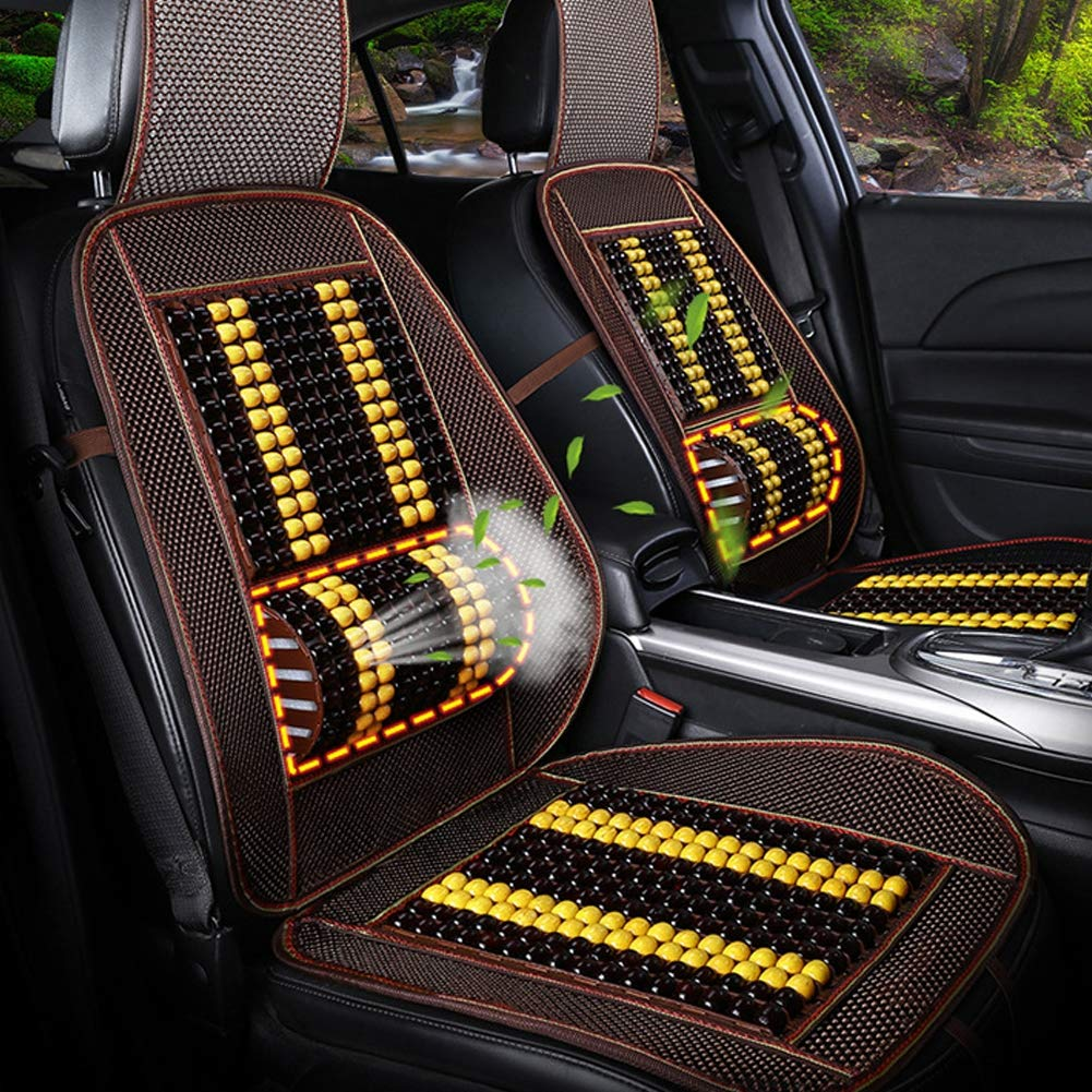Xljh Auto Car Vehicle Wood Beaded Seat Cushion Massage Comfort Relax Beaded Massage Seat Cover 1PC