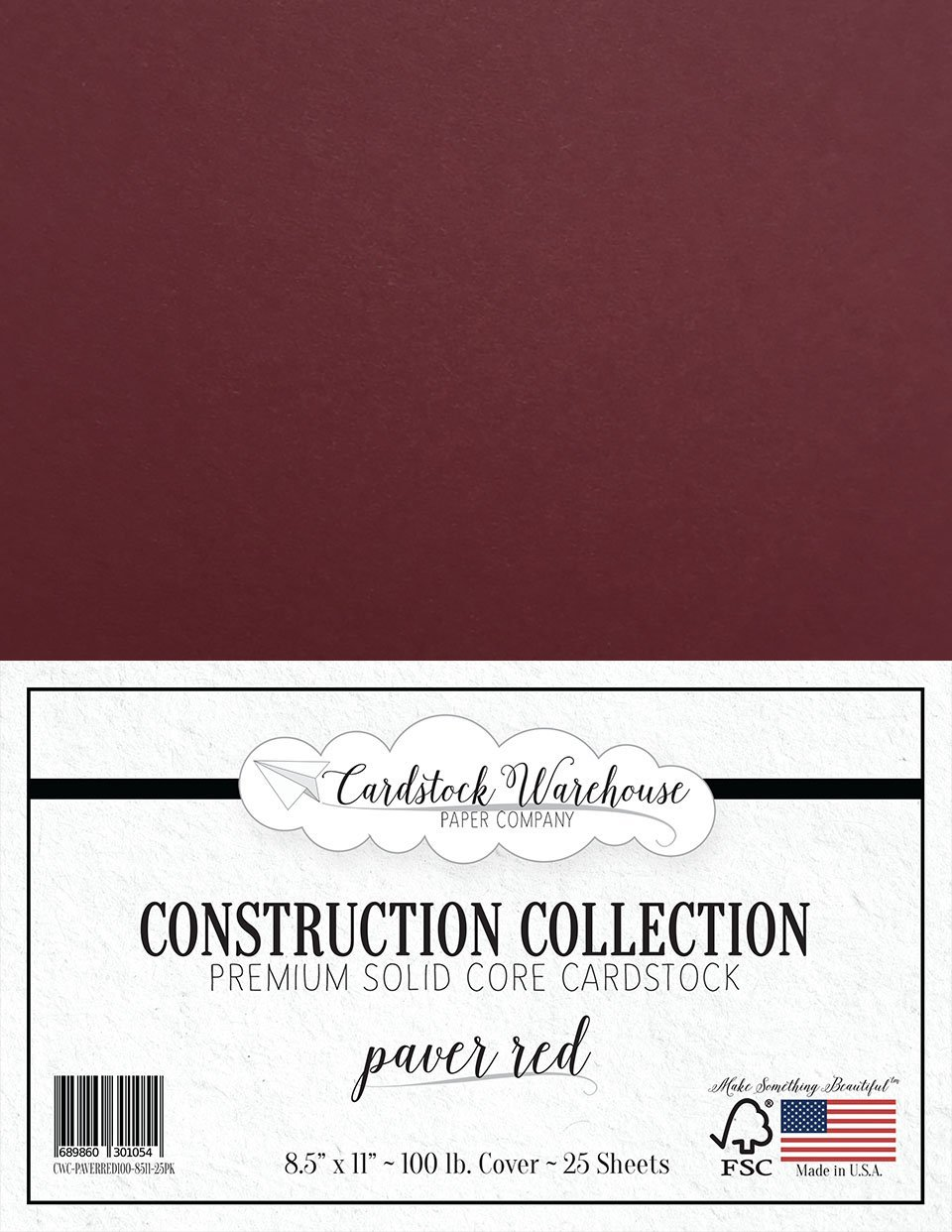 100Lb Cover Clear Path Paper 25 Sheets 8.5 x 11 inch Silk White Cardstock