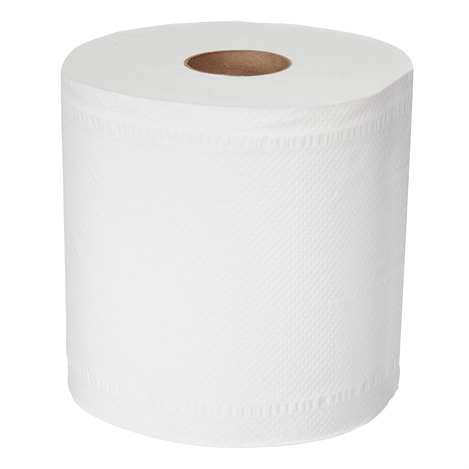 AmazonCommercial Center Pull Towels, 600 Towels per Roll, 6 Rolls