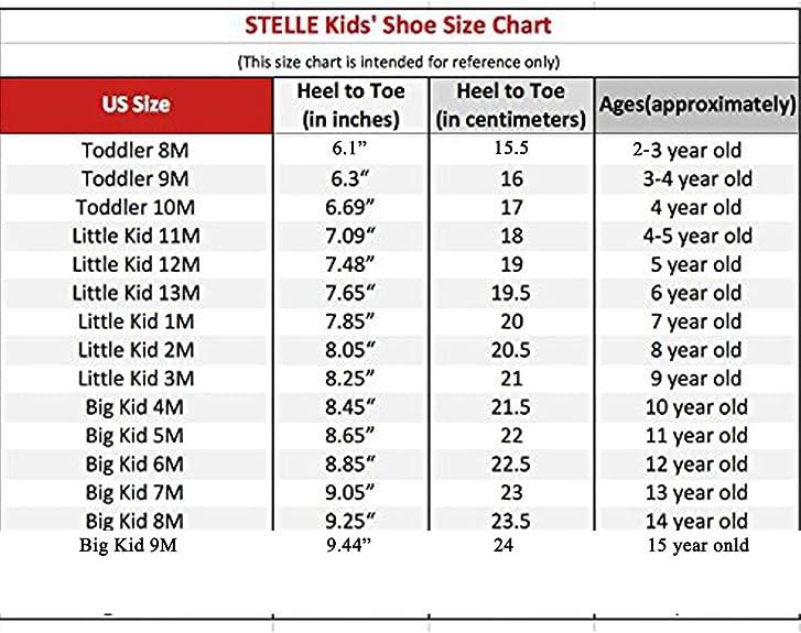 8 m us big kid shoe size