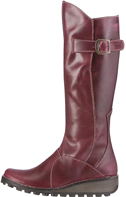 Fly london Mol 2 Purple Leather Womens Knee Hi Boots: Amazon.co.uk: Shoes &  Bags