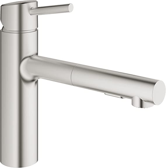 Grohe 31453DC1 Concetto Single-Handle Pull-Out Kitchen Faucet with Dual Spray