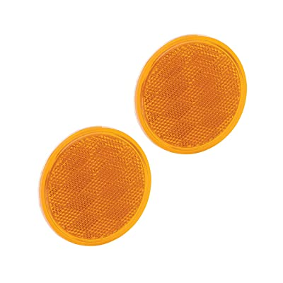 """Bargman 74-38-020 Reflector (Class A 3-3/16"""" Round Amber with Adhesive Back - 2 Pack): Automotive"""