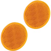 "Bargman 74-38-020 Reflector (Class A 3-3/16"" Round Amber with Adhesive Back - 2 Pack)"