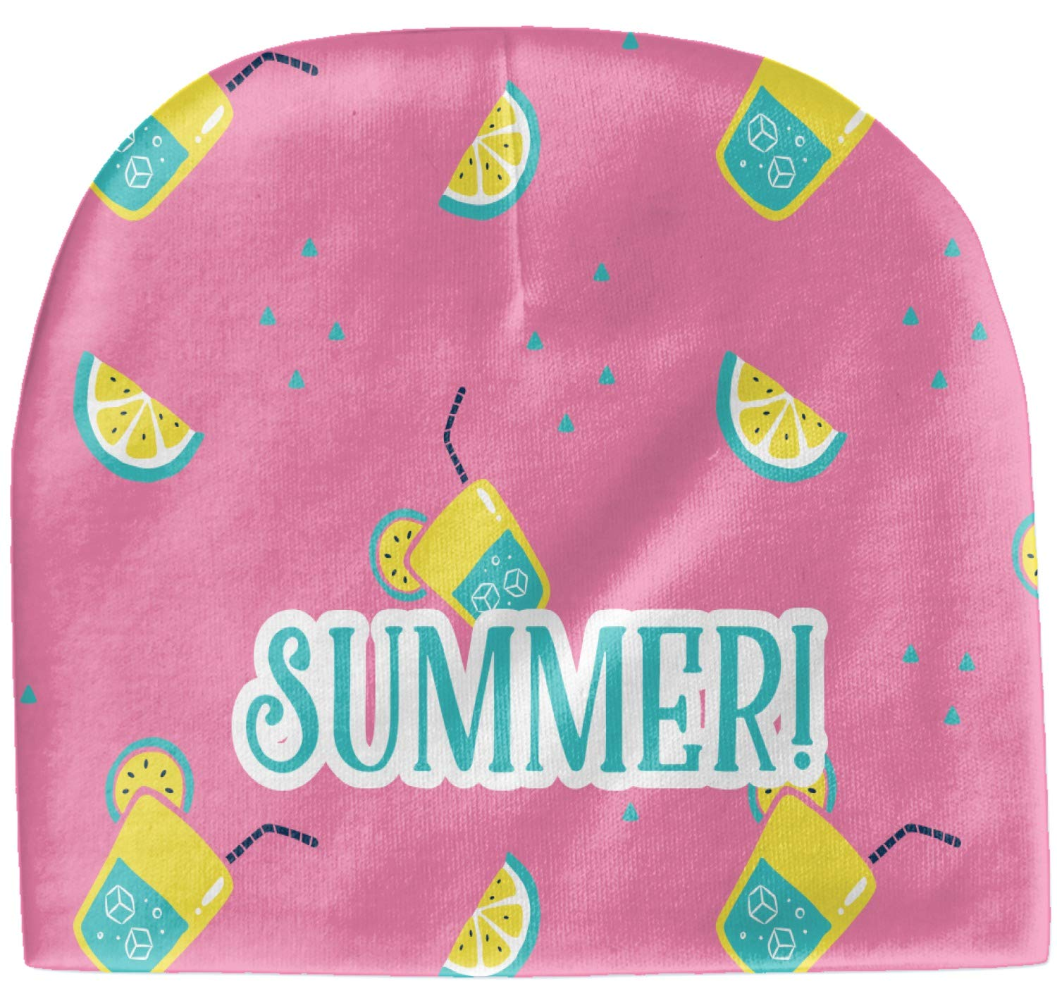 RNK Shops Summer Lemonade Baby Hat (Beanie) (Personalized)