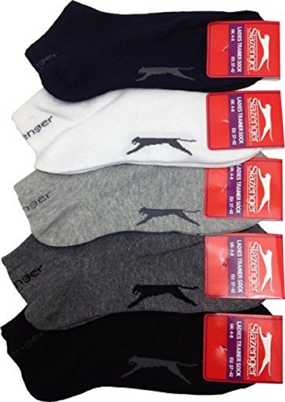 Slazenger 5 Pairs MENS Trainer Liner Socks EV-WL4P-QZOT