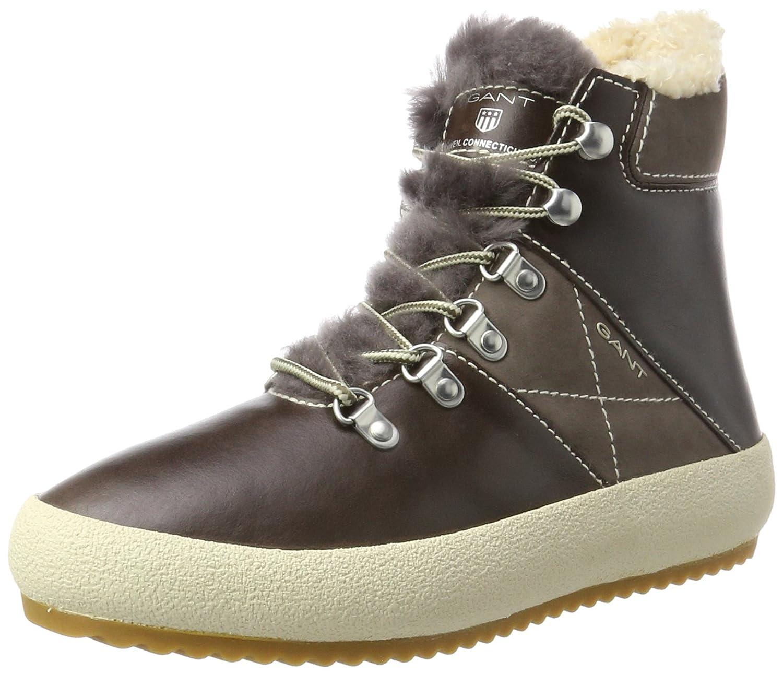 Gant Amy, Zapatillas Altas para Mujer 37 EU Marrón (Dark Brown G46)