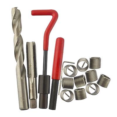 AB Tools M14 x 1.5mm Thread Repair kit/helicoil 9pc Set Damaged Thread 15pc AN025: Automotive