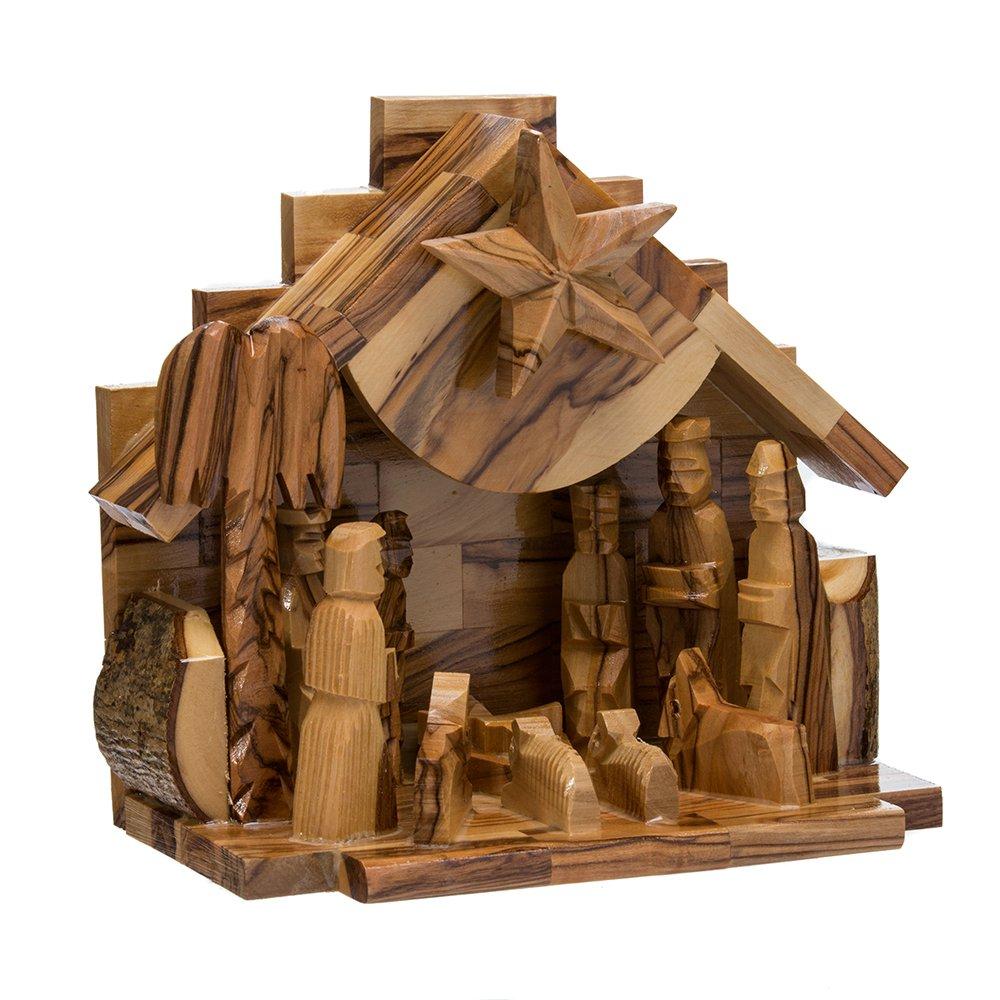 Kurt Adler LOC0003 7.9'' Olive Wood Nativity Music Box