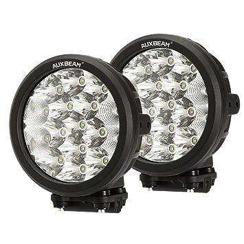 Auxbeam 2Pcs 7u0026quot; LED driving light 80w Round Cree LED Off-road Light Bar  sc 1 st  Amazon.com & Amazon.com: Auxbeam 2Pcs 7