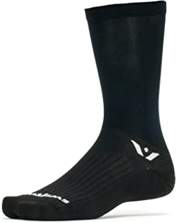 product image for Swiftwick- ASPIRE SEVEN Cycling Socks, Firm Compression Fit, Tall Crew