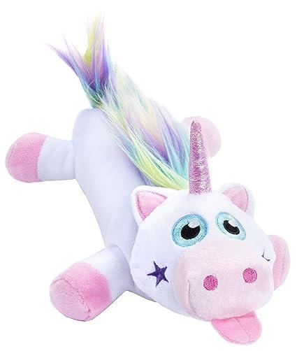 Estuche de unicornio de peluche FRINGOO®, para niñas, suave, gran capacidad,