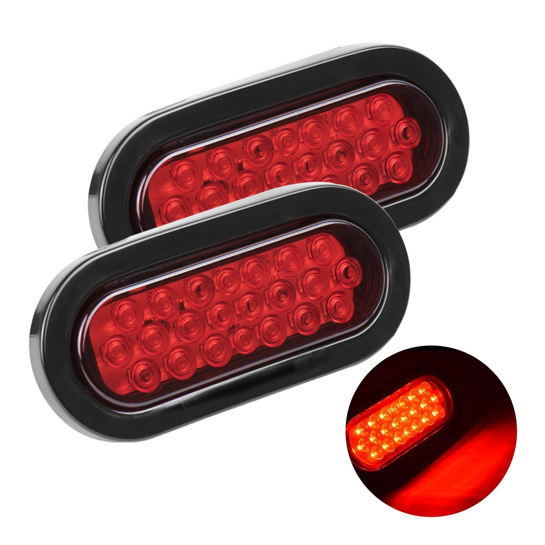 LED Rear Brake Lights,Eyourlife 2PCS Tail lights 12V Universal for Trailer  Camper Van Truck Lorry Tractor