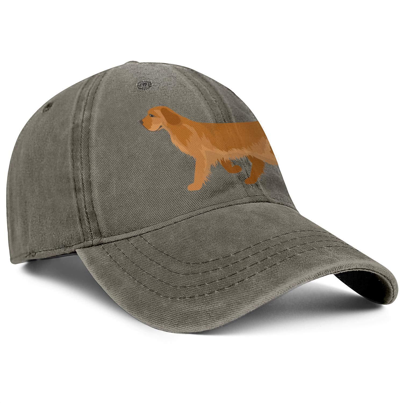 Cowboy Cotton Ball Hat Golden Retriever Dog Classic Hip-hop Sport Cap Adjustable Snapback Denim Hat