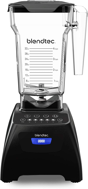 Blendtec Classic 575 blender with Fourside Jar, Black Classic 575