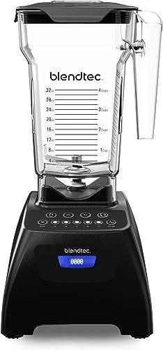 Blendtec blender with Fourside Jar, Black Classic 575, 15 tall x 8 deep x 7 wide