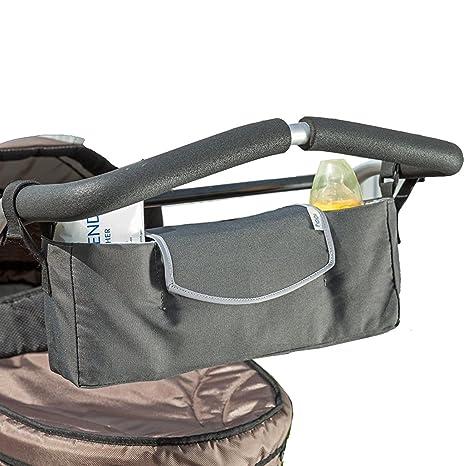 Biddy Organizador para carritos de bebe - Bolso universal para cochecitos - color gris
