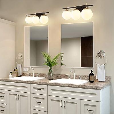 Buy Bathroom Vanity Light Fixture 3 Lights Wall Sconces Bathroom Light Fixtures Gold Vanity Lighting With Glass Ball Shape Sconce For Bathroom Hallway Online In Greece B08pxjskly