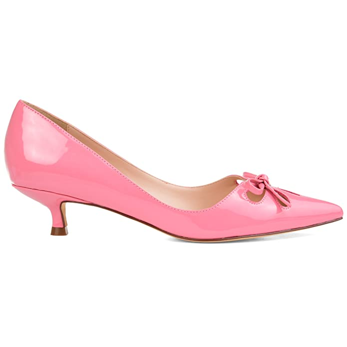Vintage Style Shoes, Vintage Inspired Shoes Brinley Co. Womens Cut-Out Bow Kitten Heel Pump $39.99 AT vintagedancer.com