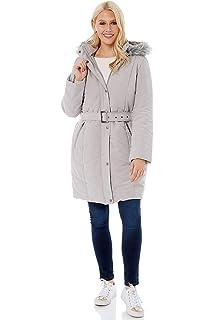 d0fa553c0 Roman Originals Women Waterproof Fur Lined Hood Knee Length Jacket ...