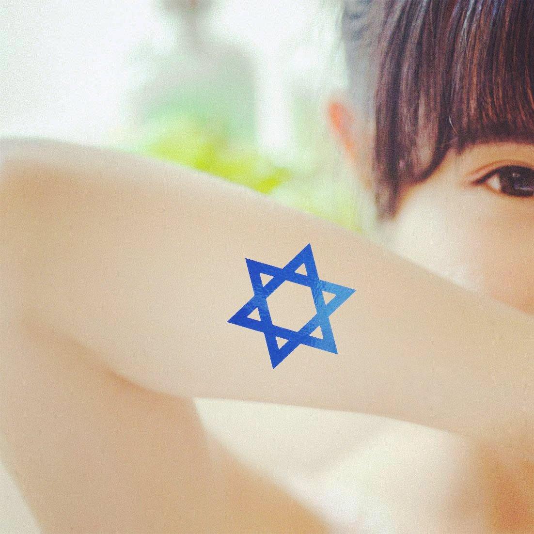 COKOHAPPY 5 hoja Lucky Estrella de David Temporales Tatuaje ...