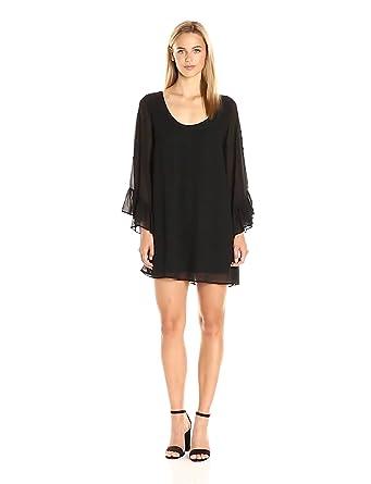 Show Me Your Mumu Women's Boomerang Low Back Dress, Black Chiffon, S