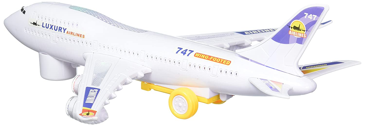 Amazon Luxury Boeing 747 300 Airbus Bump N Go Toy Plane By Velocity Toys Games