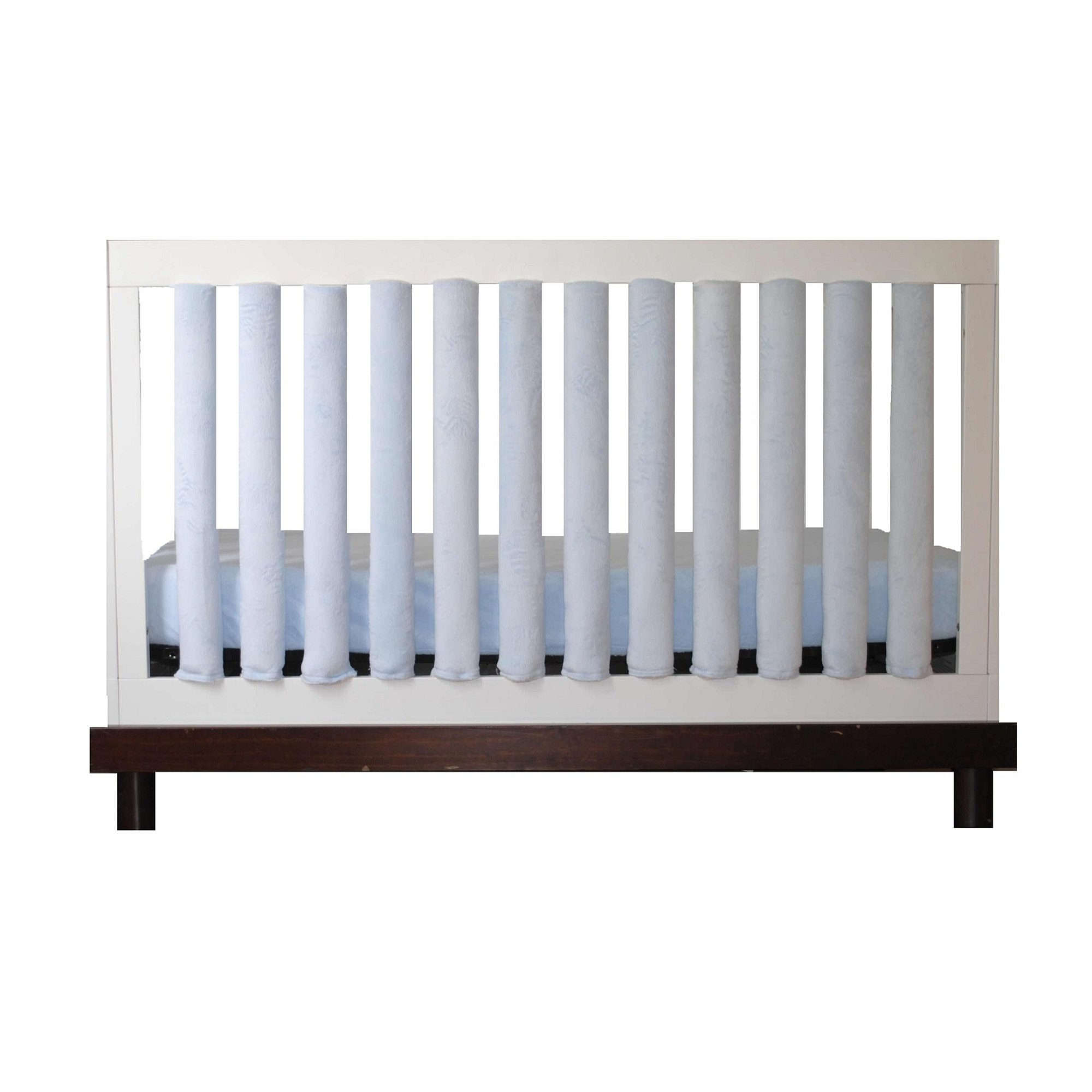 Pure Safety Vertical Crib Liners in Luxurious Blue Minky 24 Pack by Go Mama Go